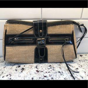 ABS by Allen Schwartz Patent Leather/Jute Clutch